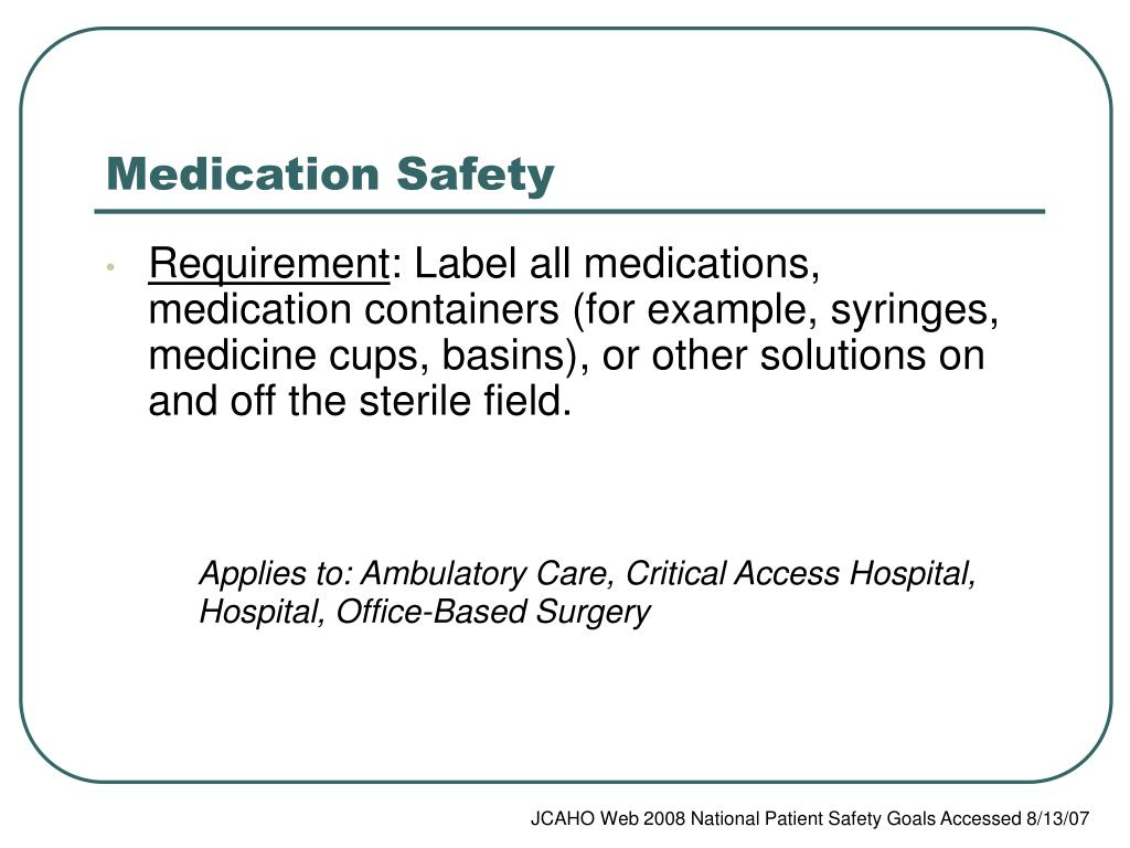 Patient Safety | Nursing Home Care Services |Patient Safety Standards Jcaho Policies