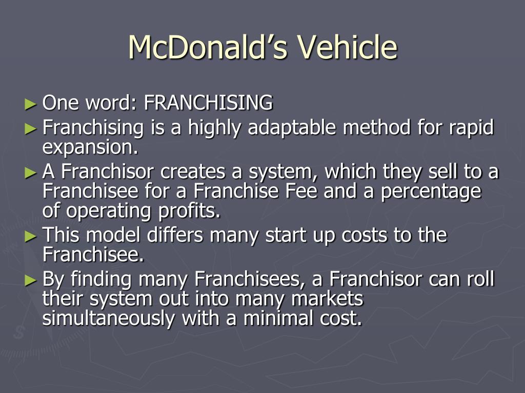 McDonald's Vehicle
