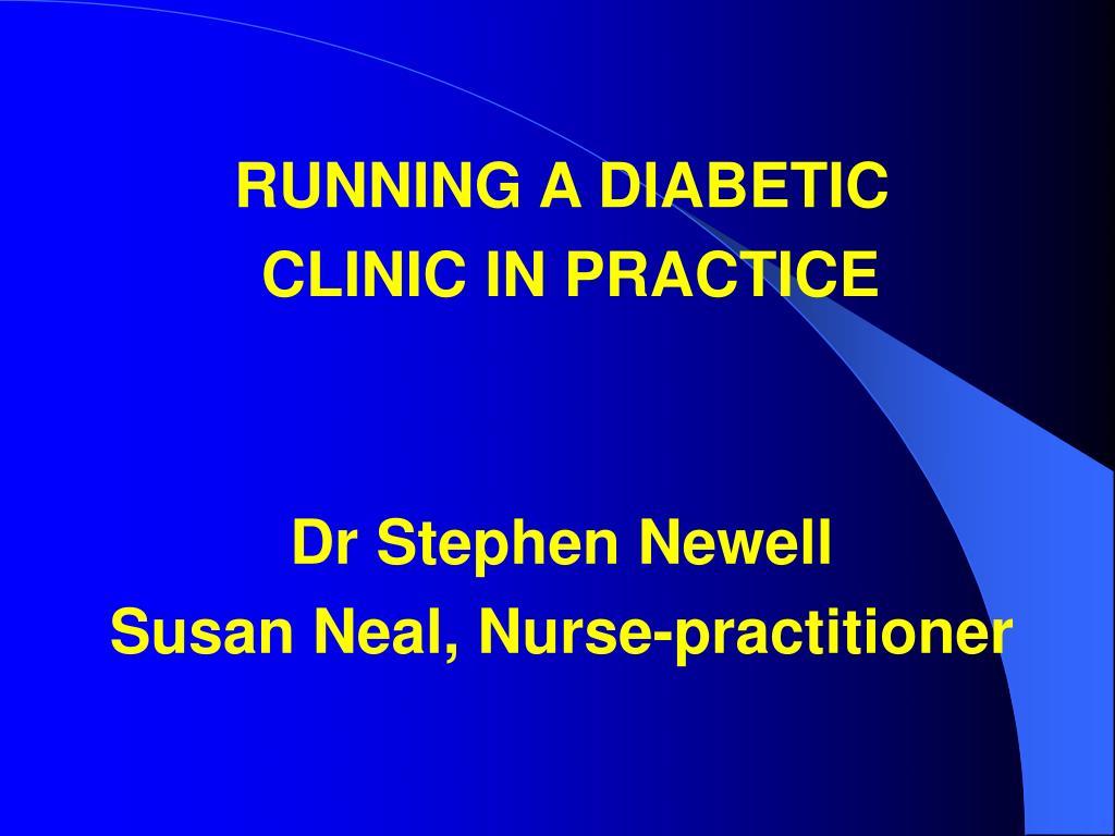 RUNNING A DIABETIC