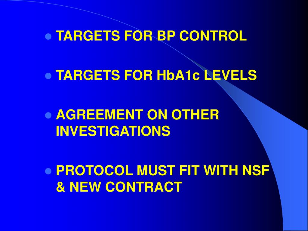 TARGETS FOR BP CONTROL