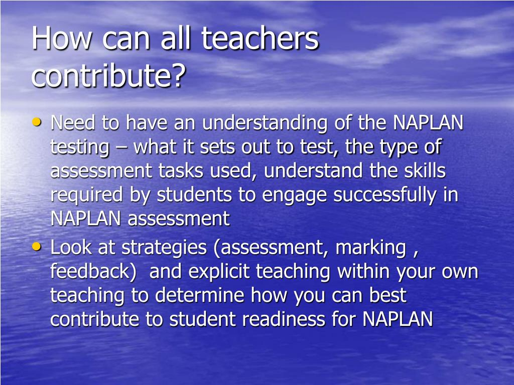 How can all teachers contribute?