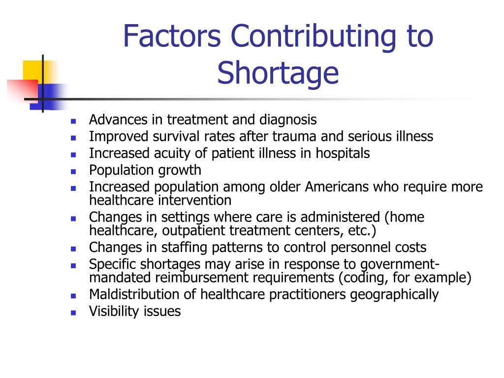 Factors Contributing to Shortage