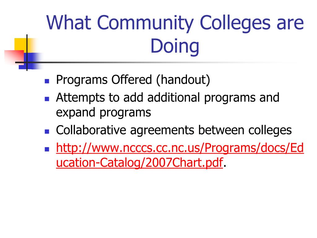 What Community Colleges are Doing