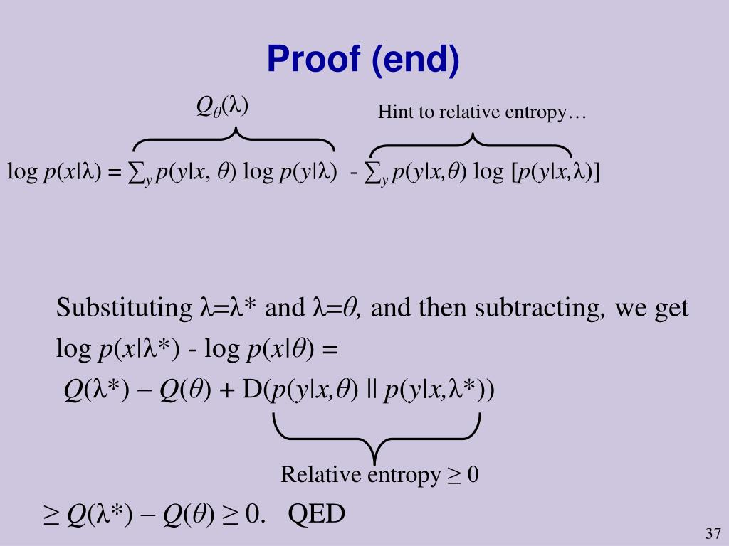 Proof (end)