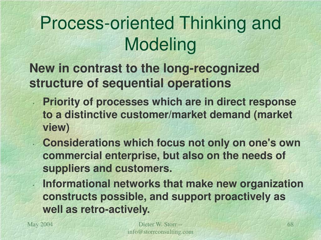 Process-oriented Thinking and Modeling