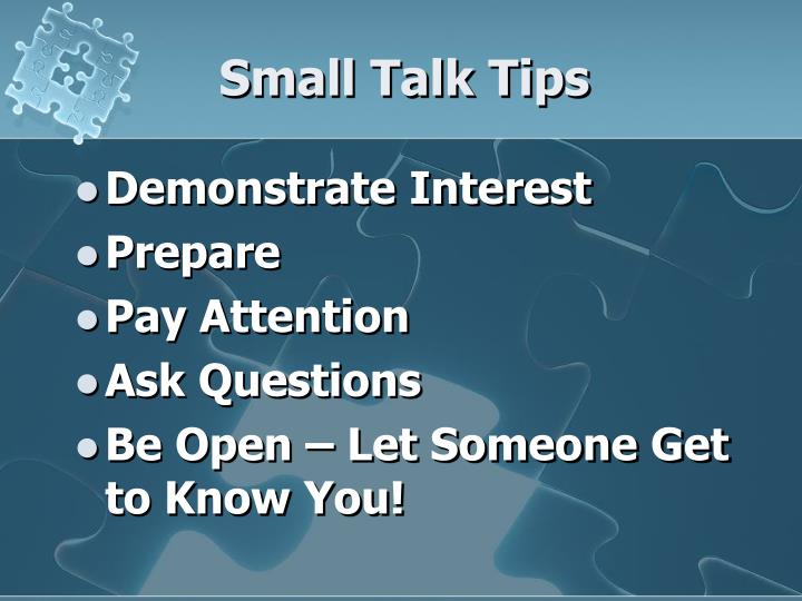 Small Talk Tips