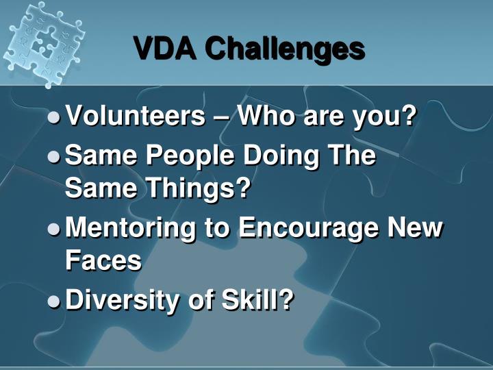 VDA Challenges