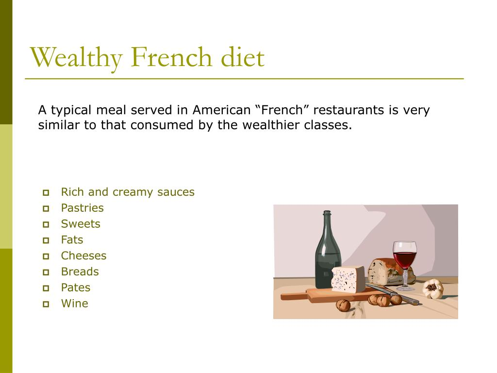 Wealthy French diet