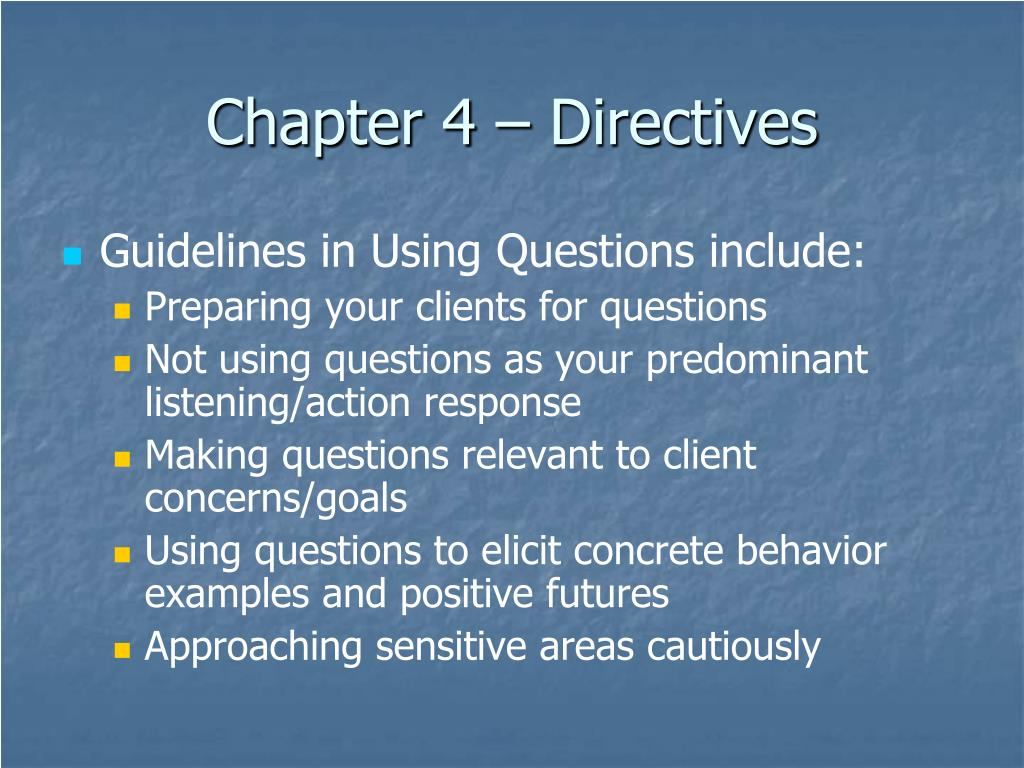 Chapter 4 – Directives