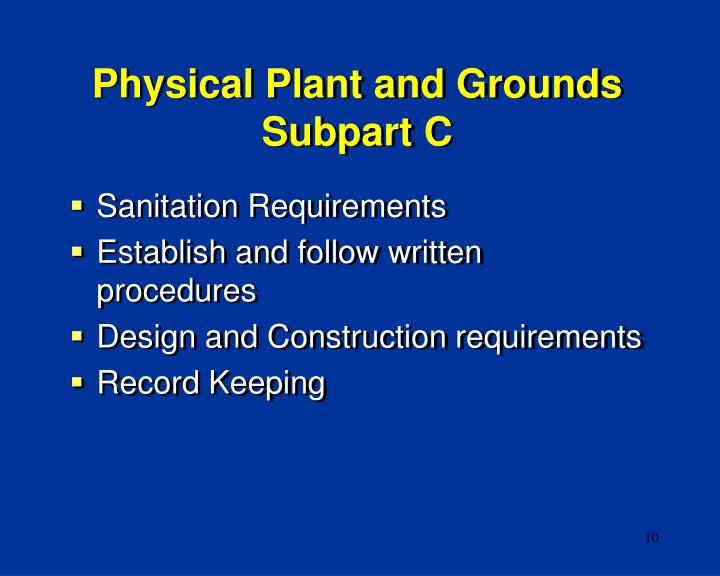 Physical Plant and Grounds