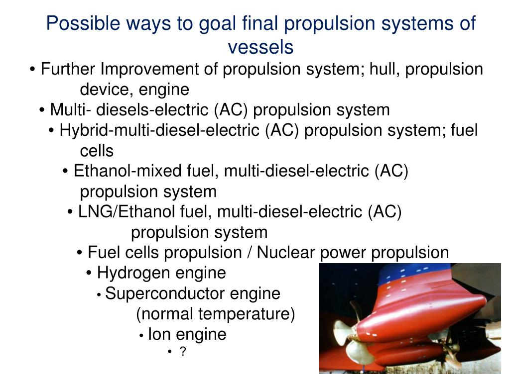 Possible ways to goal final propulsion systems of vessels
