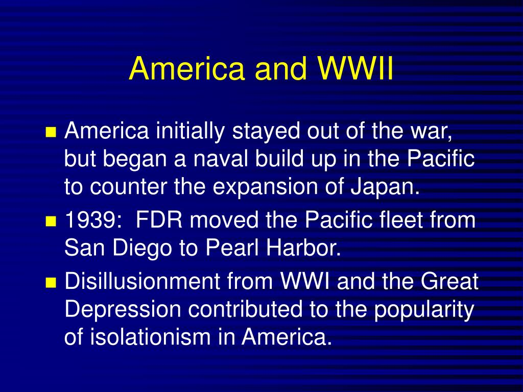 America and WWII
