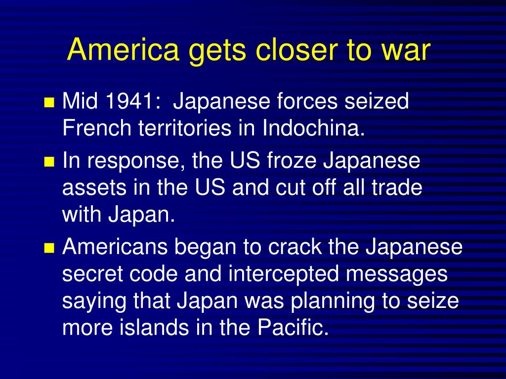 America gets closer to war