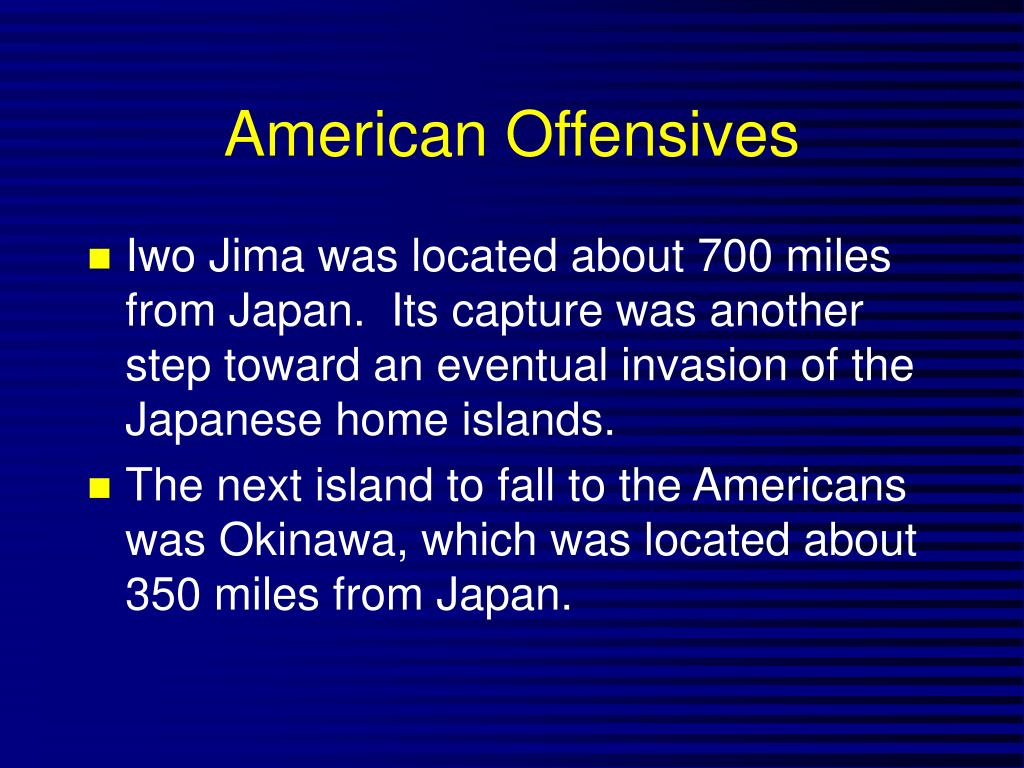 American Offensives