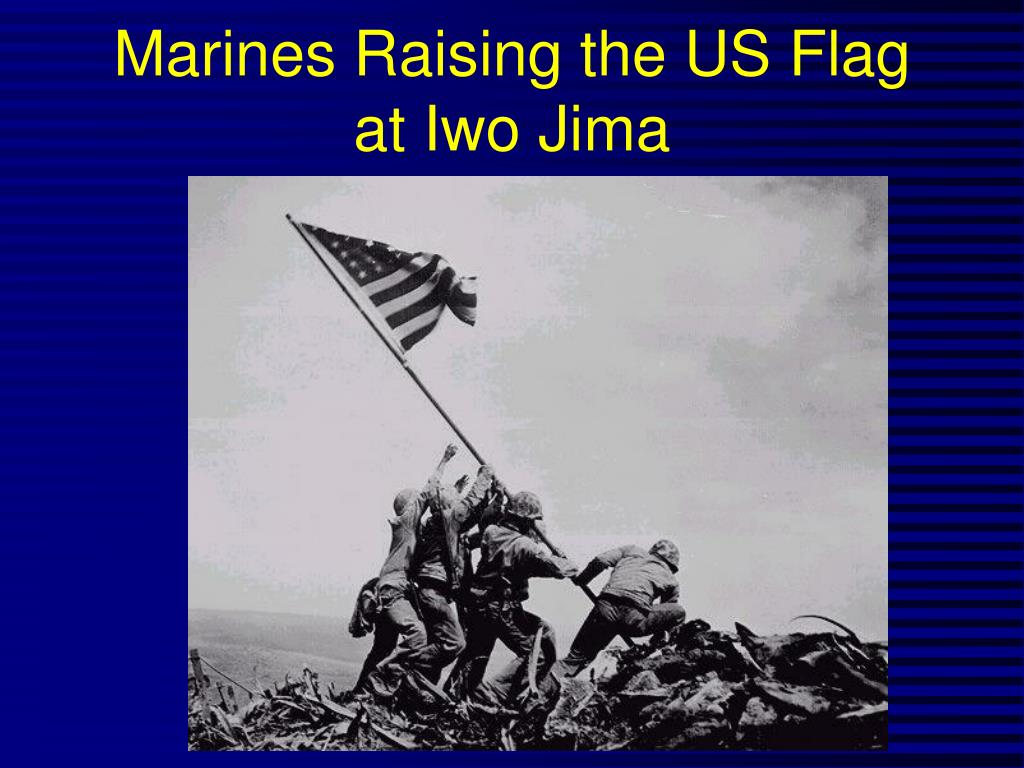 Marines Raising the US Flag at Iwo Jima