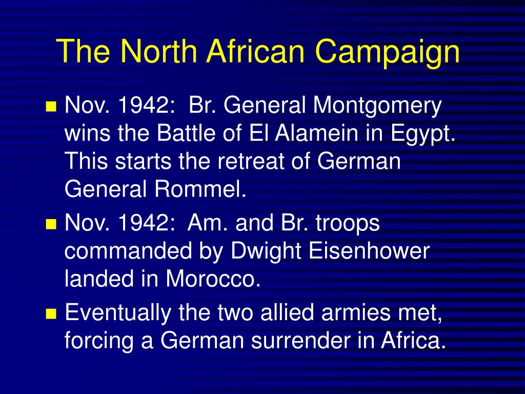 The North African Campaign