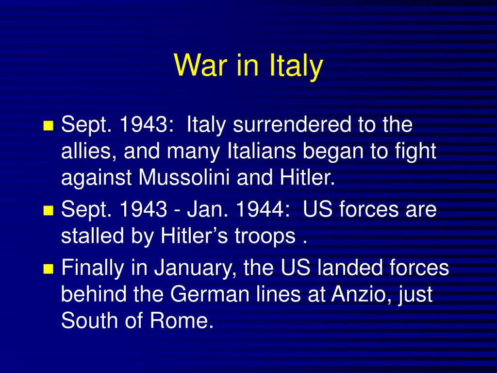 War in Italy
