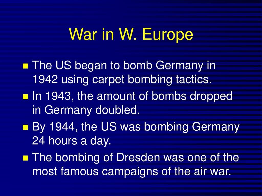 War in W. Europe