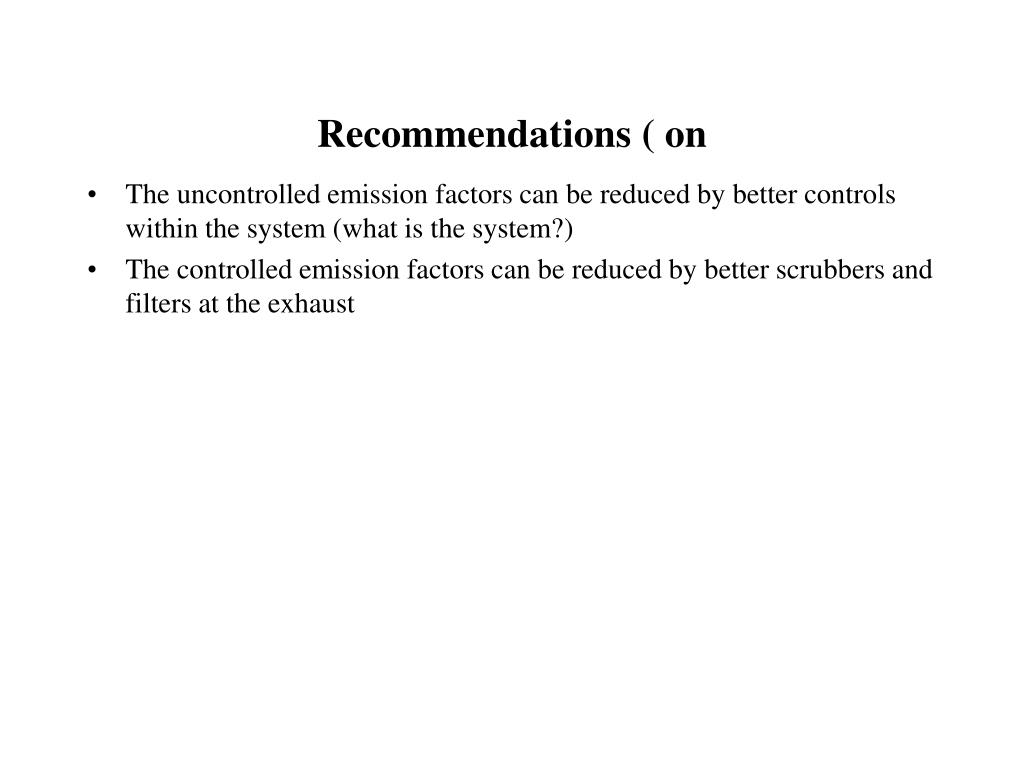 Recommendations ( on