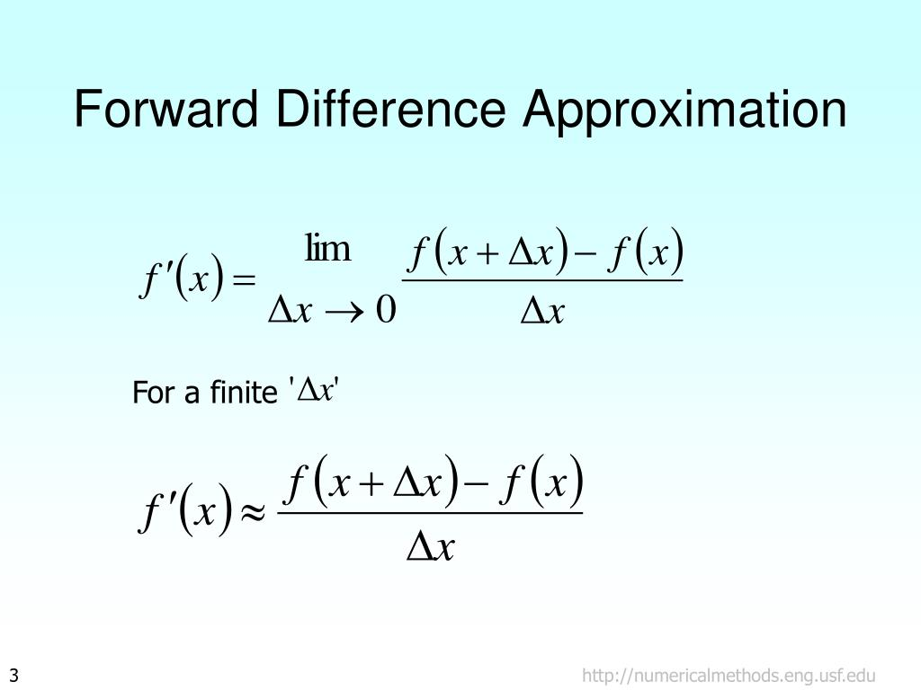 Forward Difference Approximation