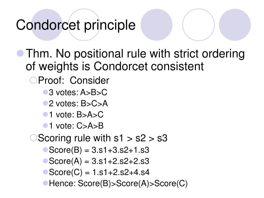 Condorcet principle