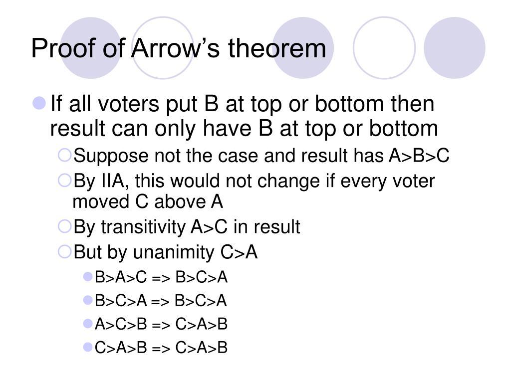 Proof of Arrow's theorem