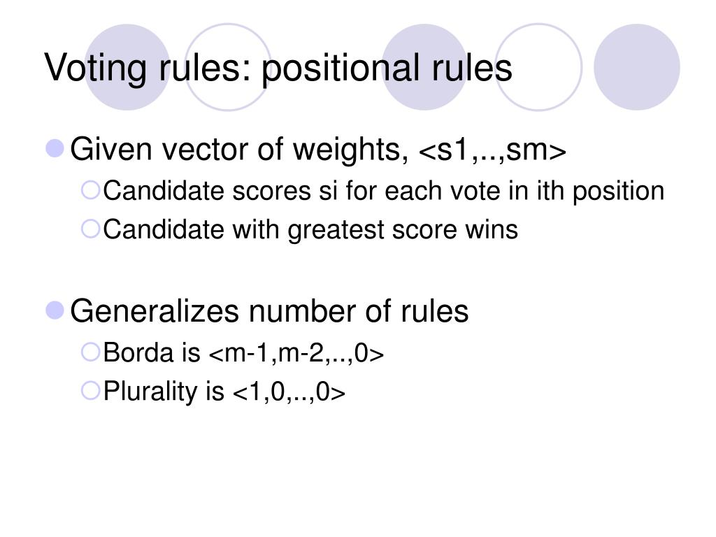 Voting rules: positional rules