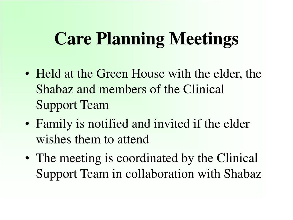 Care Planning Meetings