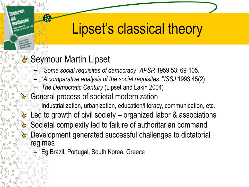 Lipset's classical theory