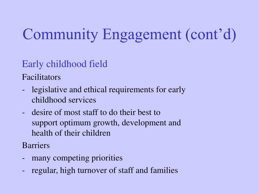 Community Engagement (cont'd)