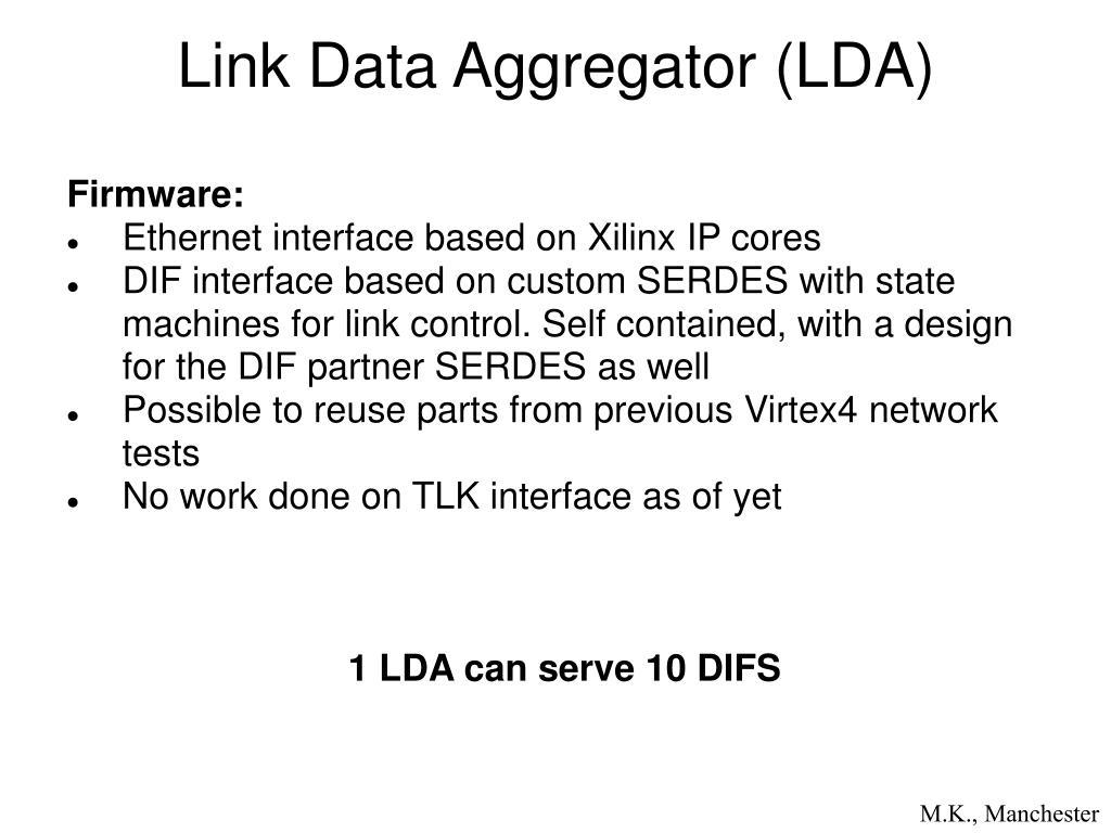 Link Data Aggregator (LDA)