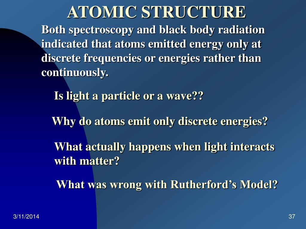 Both spectroscopy and black body radiation