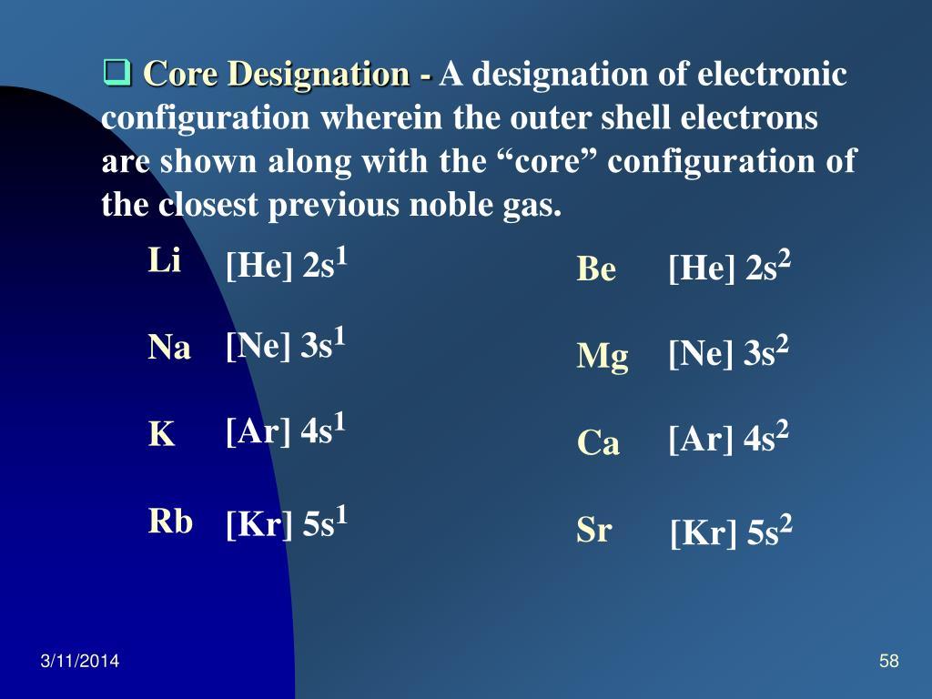 Core Designation -