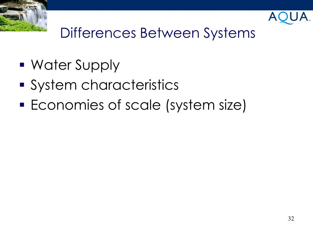 Differences Between Systems