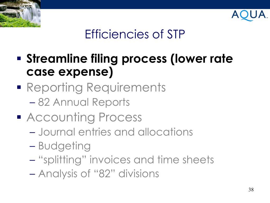 Efficiencies of STP