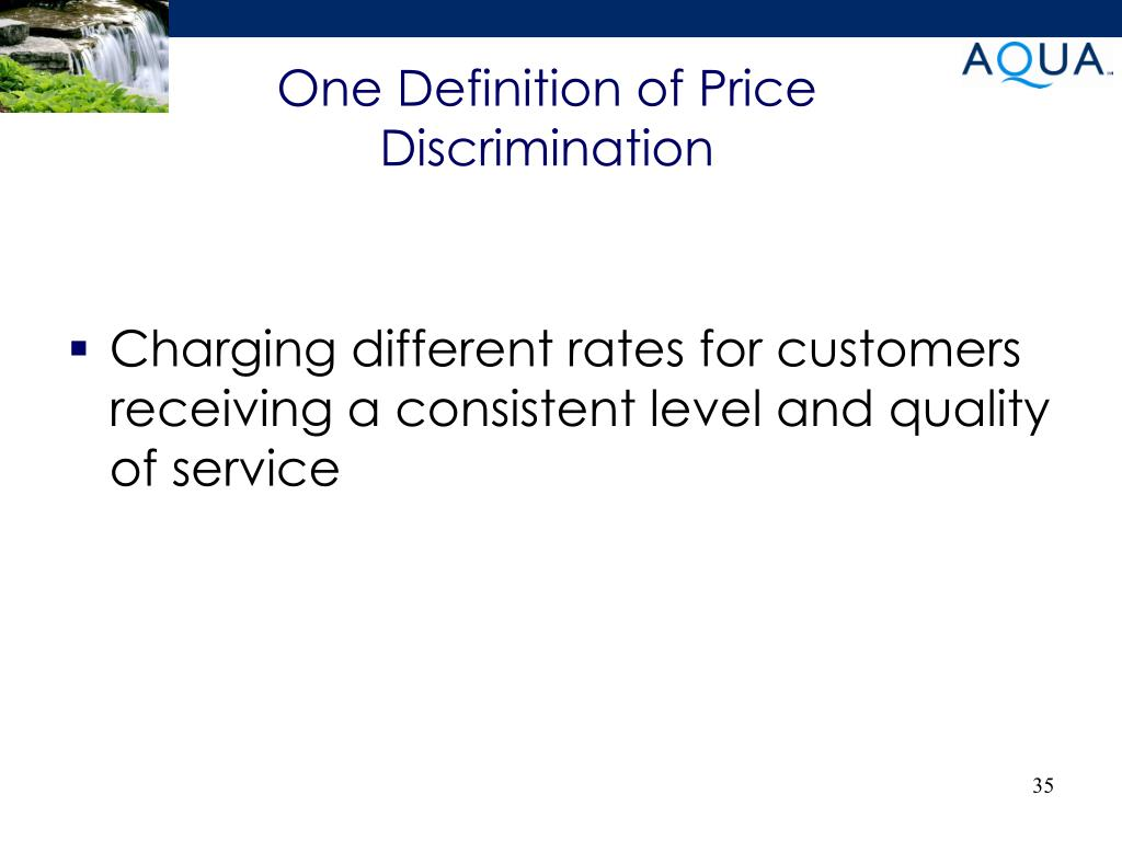 One Definition of Price Discrimination