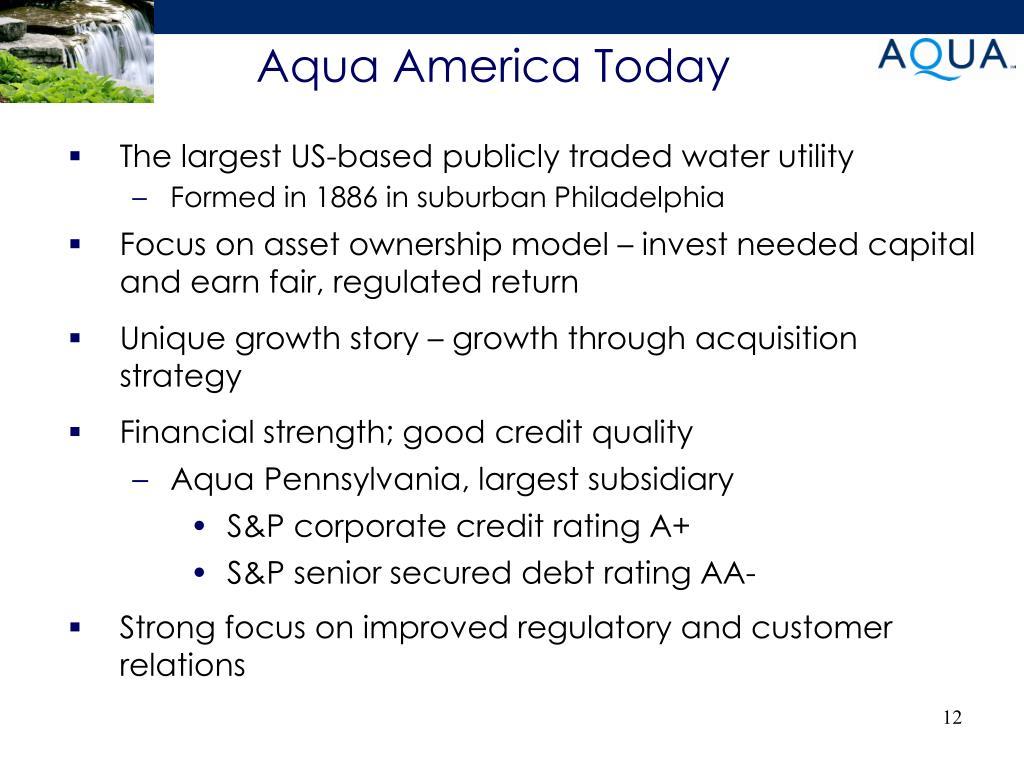 Aqua America Today