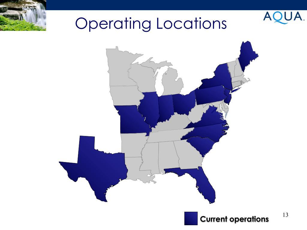Operating Locations
