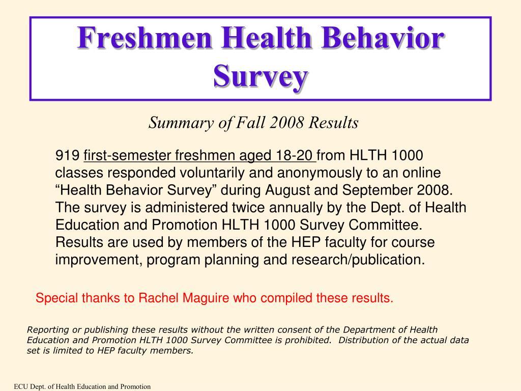 Freshmen Health