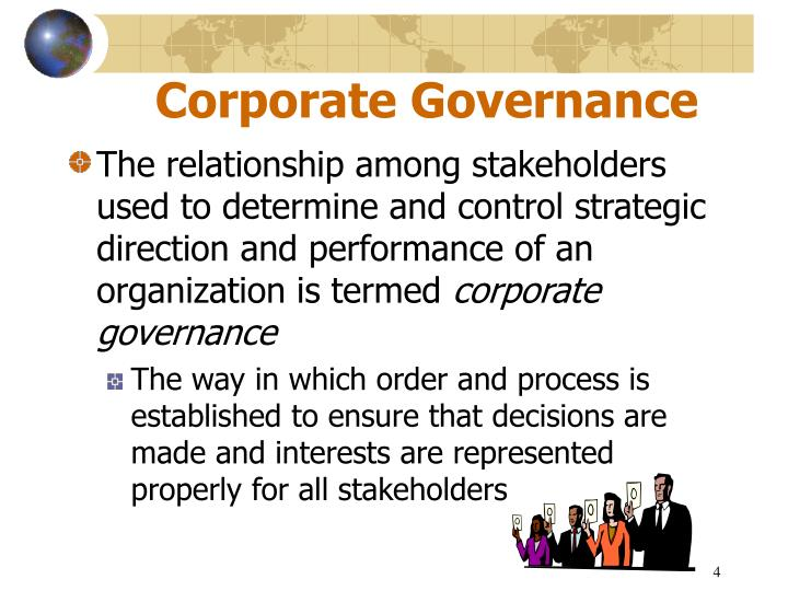 corporate governance and accounting conservatism in We develop a model to analyze how board governance affects firms' financial reporting choices and managers' incentives to manipulate accounting reports in our.