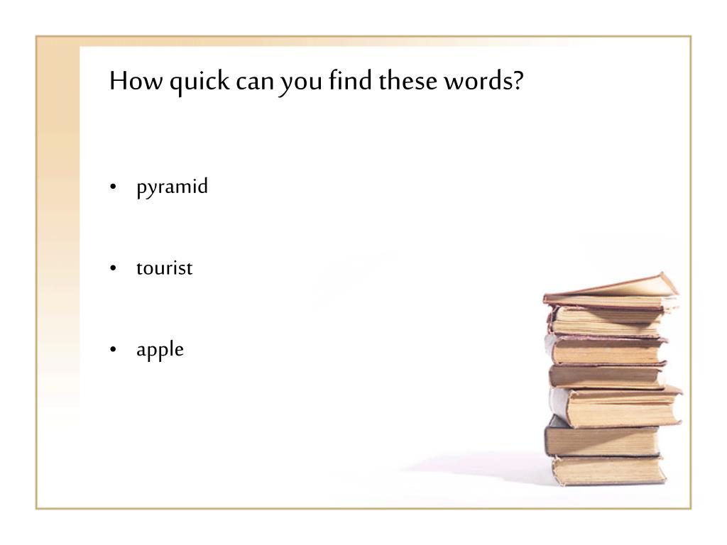 How quick can you find these words?