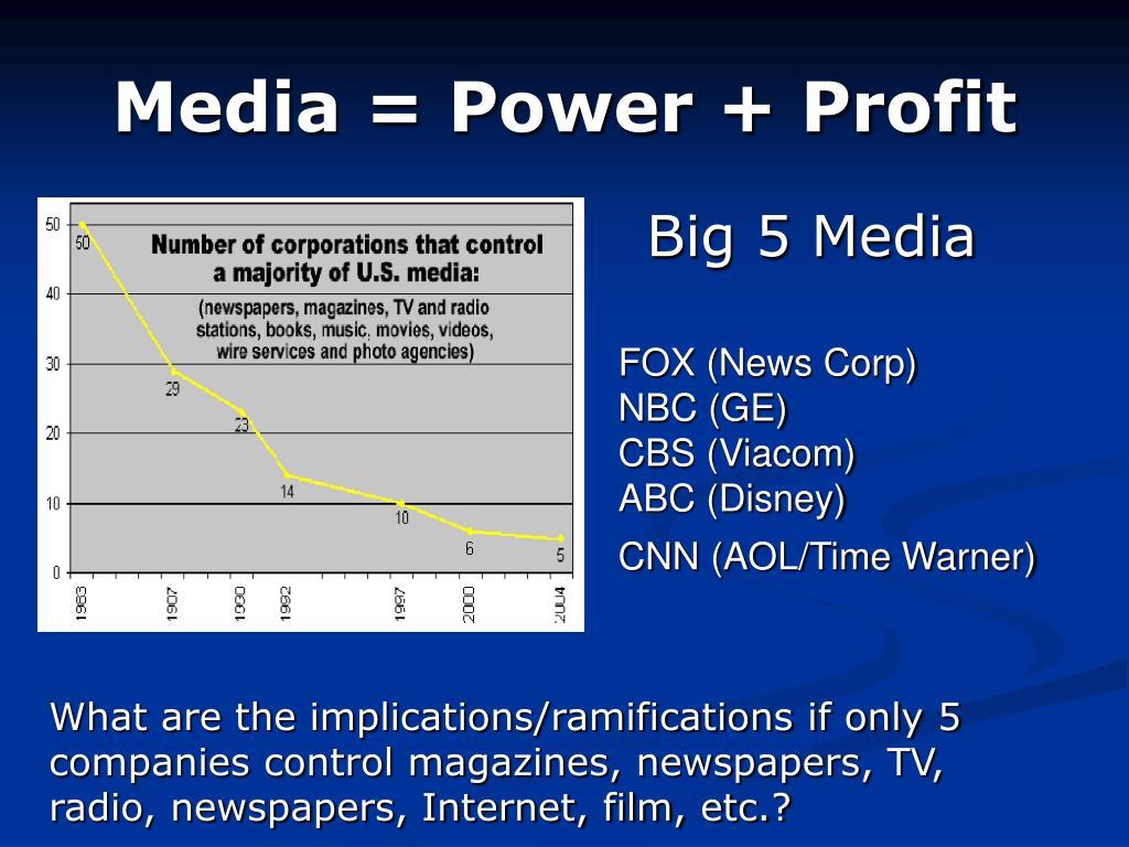 Media = Power + Profit