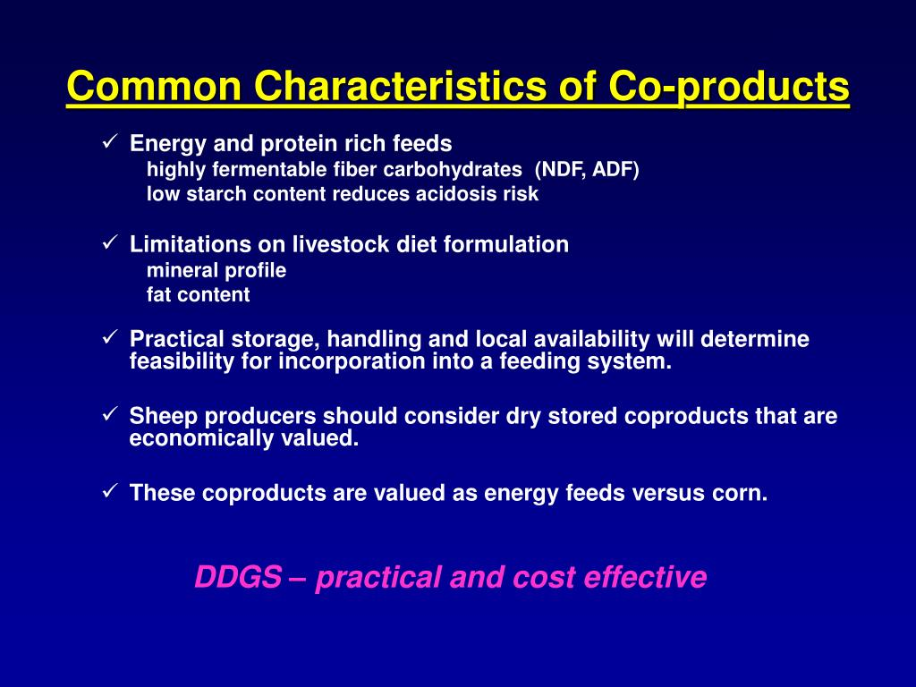 Common Characteristics of Co-products