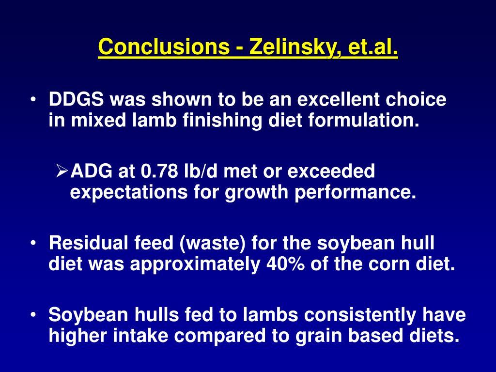 Conclusions - Zelinsky, et.al.