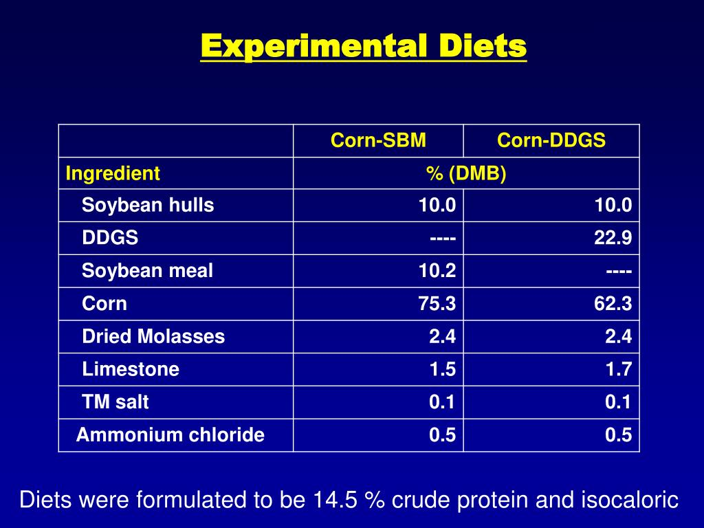 Experimental Diets