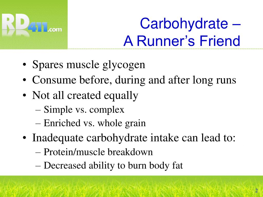 Carbohydrate –