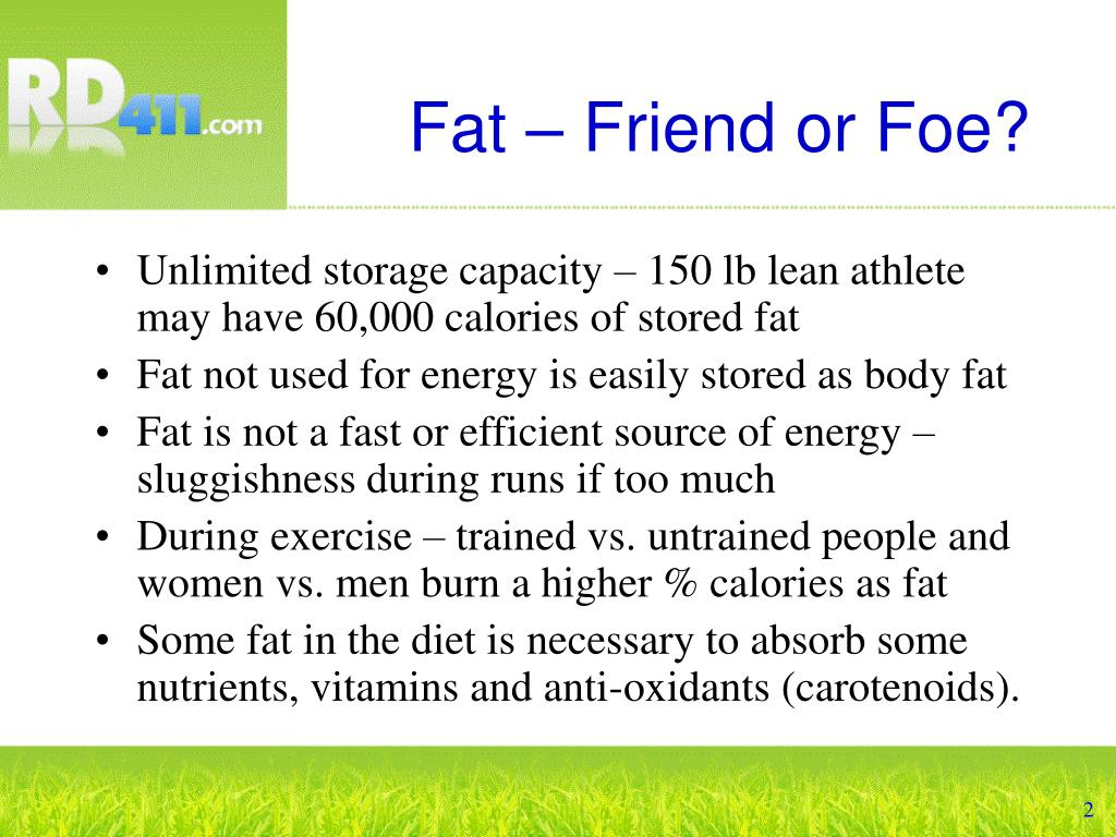 Fat – Friend or Foe?
