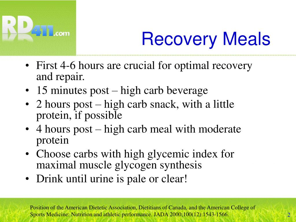 Recovery Meals