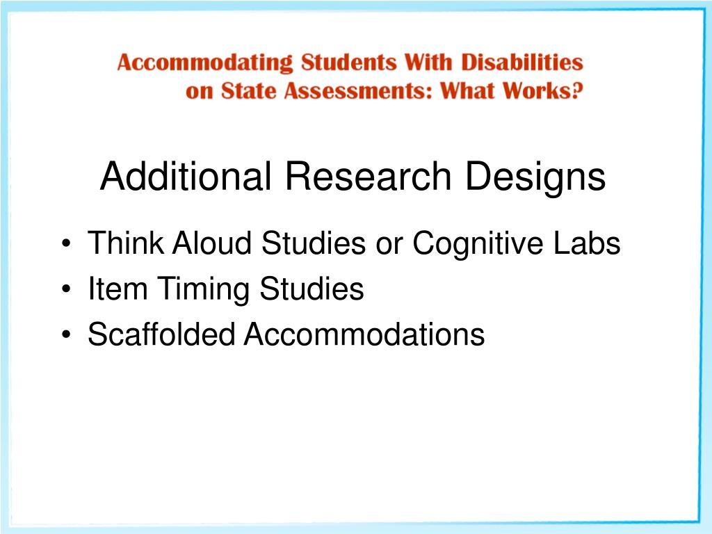 Additional Research Designs