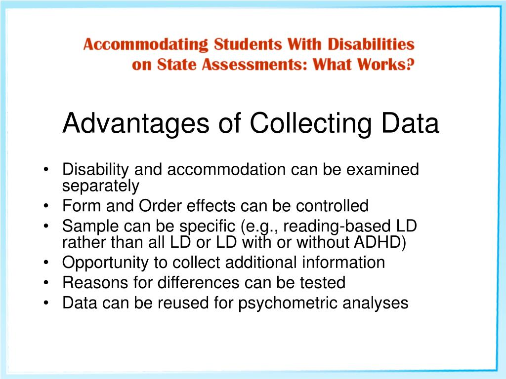 Advantages of Collecting Data